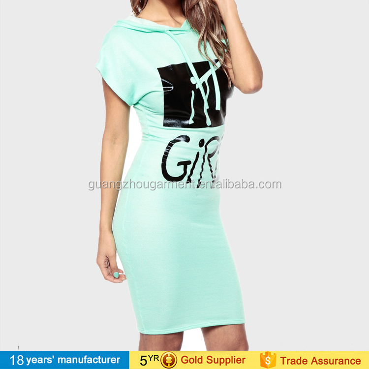 Brief Plus Korte Jurk Size Casual Gedrukt Bodycon Trui Dames Grote Sport Shirt Mouw T axOqOgw