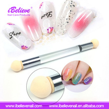 Popular Hot Sale Acrylic Handle Soft Sponge Nail Art Brush Set for UV Gel Polish