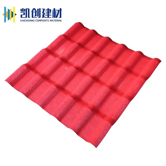 French Monier Villa Waterproofing Pvc Synthetic Resin Roof Tile Sheet