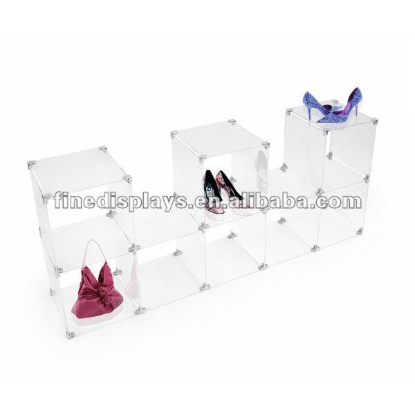 Clear acrylic shoes display shelf shoe store shelf (DS-A-228)