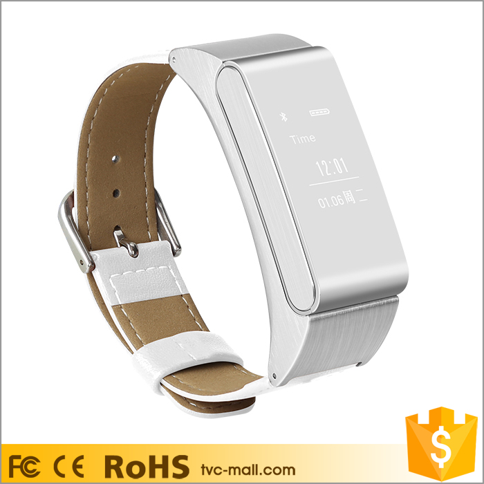 M8 2 in 1 Metal Smart Wrist Watch + Single Bluetooth Headset for iOS Android Phones