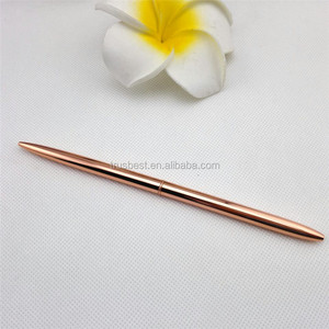 hot selling rose gold ball pen for gift , promotional slim ballpoint pen