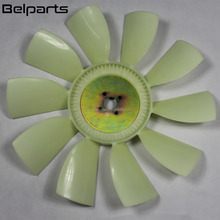 Excavator diesel engine spare parts fan cooling 517608 34340-20100 S6K fan blade with 4 holes 10 blades for CAT E220B E315B