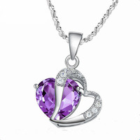 MAX-925 Sterling Silver Charms Pendant Wholesale Heart Pendant 925 Sterling Silver