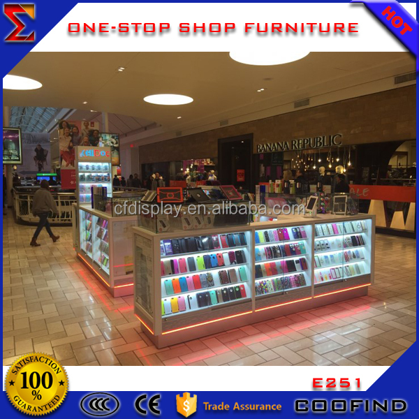 Shopping mall bespoke electronics showroom decoration design for sale