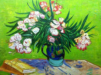 Famous art flower oil painting by van gogh F2