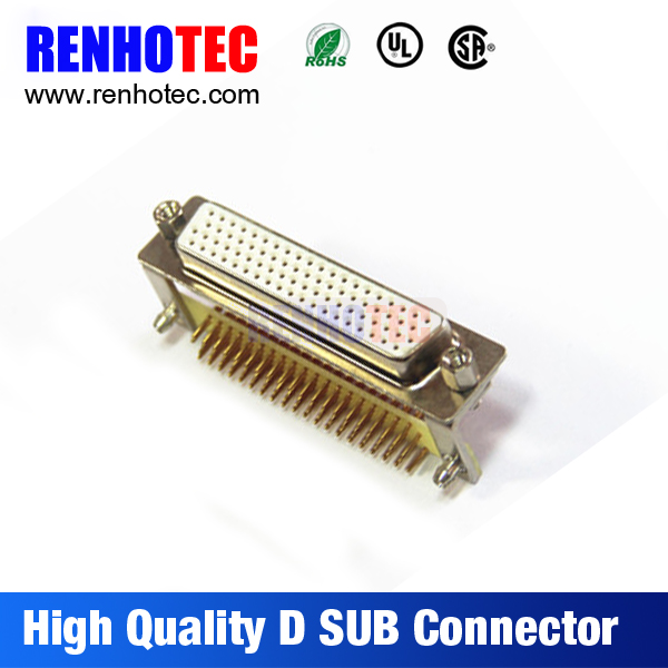 db78 d-sub for mechanical equipment, right angle female dsub connector, solder dsub connector