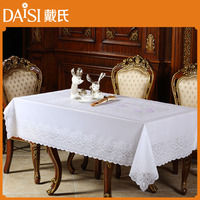 Wholesale plastic tablecloths rectangle vinyl lace plastic tablecloths