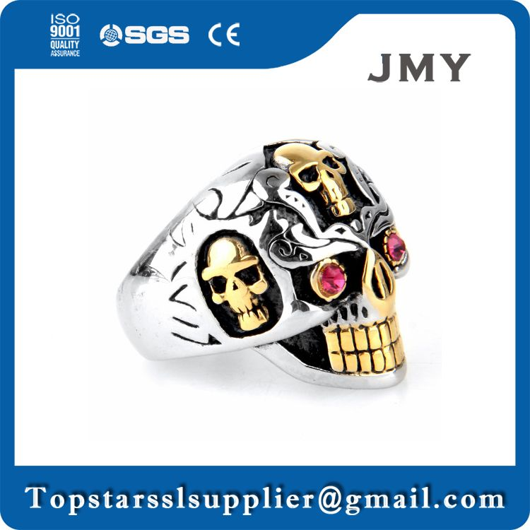 most popular exquisite halloween decoration skull ring