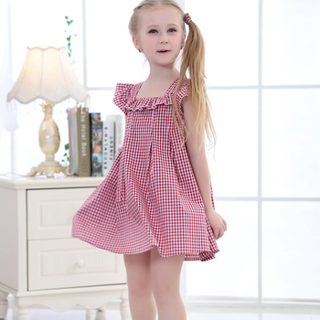 Wholesale Girls Cotton Frock Designs Hot Sale design girs dresses baby girl frock pattern children summer Clothing Fashionable