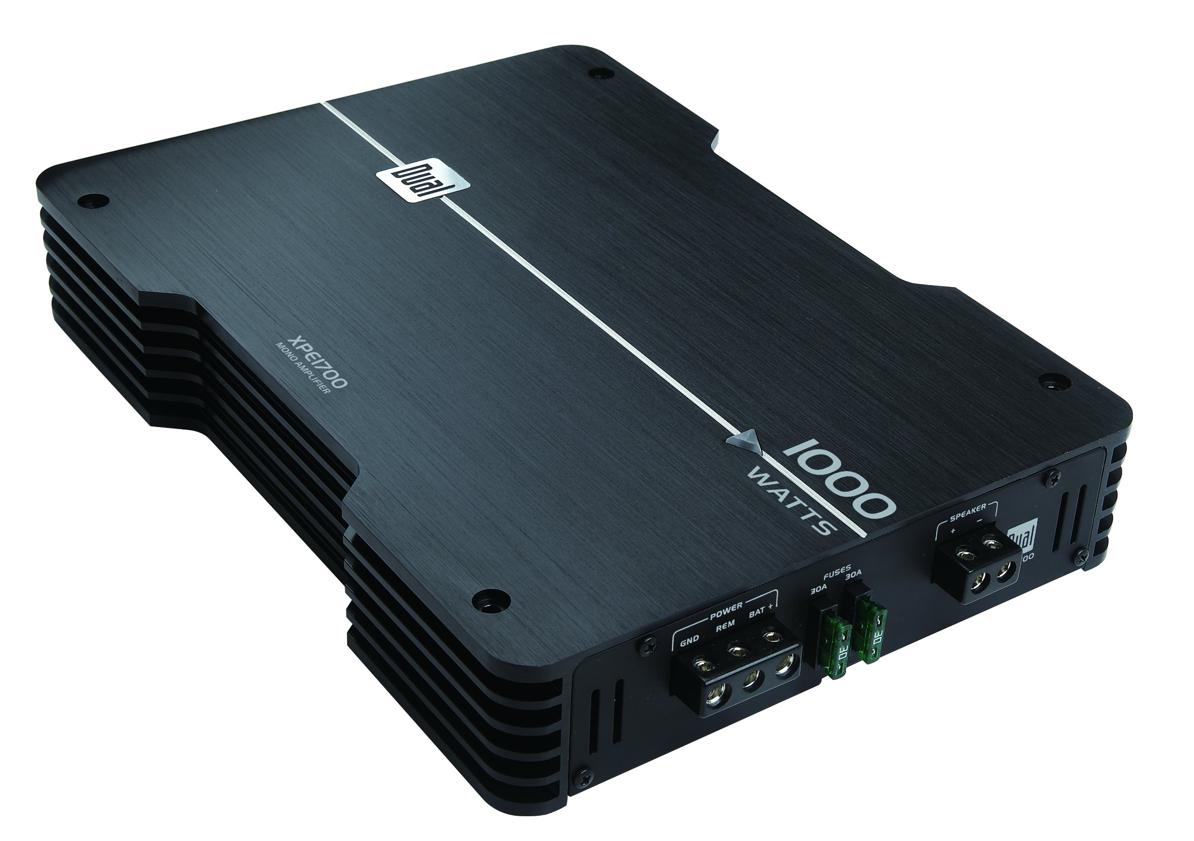 Dual Electronics XPE1700 High Performance MONO Channel Power MOSFET Class A/B Car Amplifier with 1000-Watts Dynamic Peak Power
