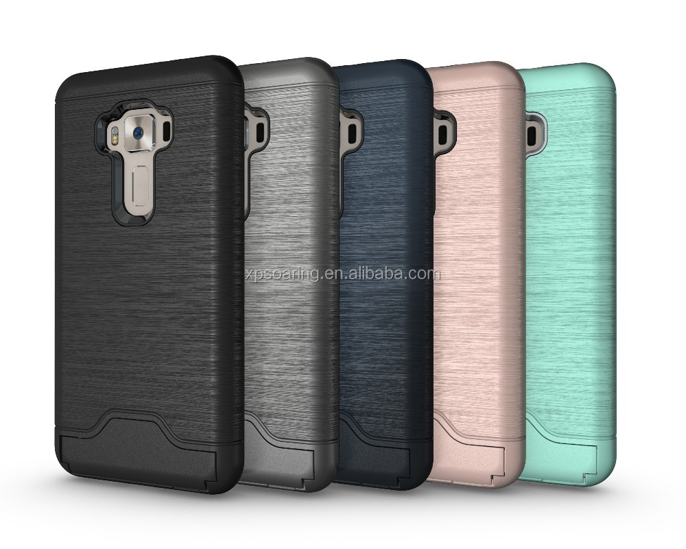 Stand shockproof case with card slots for Asus Zenfone 3 ZE552KL
