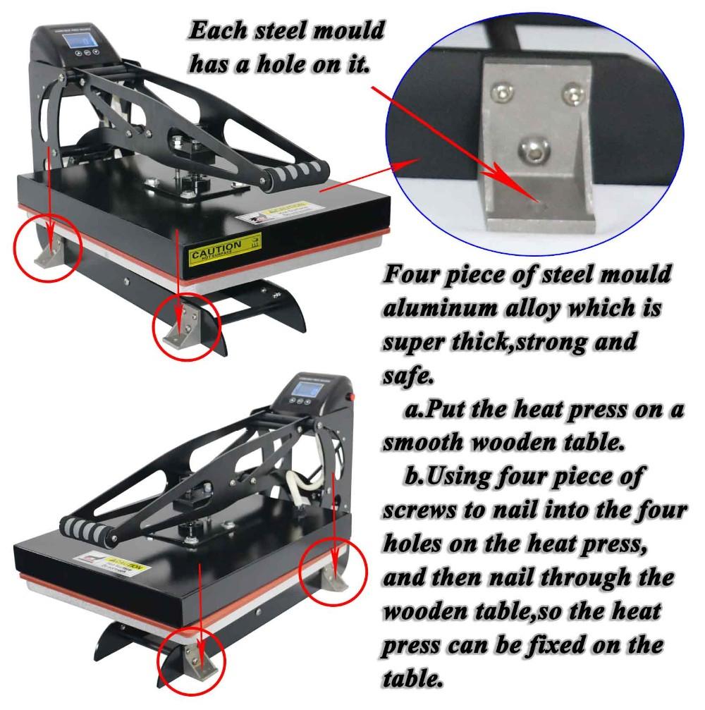 High Press With Aluminum Head Smart Heat Press Machine