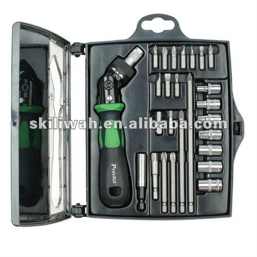ProsKit Precision SD-2314M 25 In 1 Reversible Ratchet Screwdriver W/Bits & Sockets Set