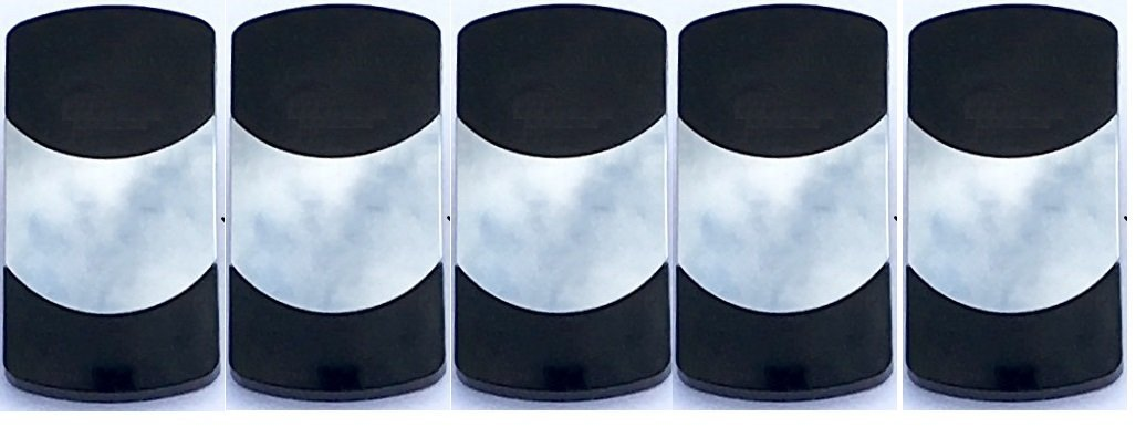 5 Pack Fits Carling Technol... Euro Rocker White Switch Cover with 1 Blue Lens