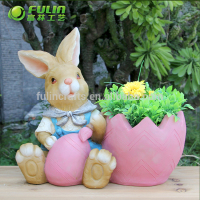 Wholesale resin handmade animal flower pots outdoor vase planter new planter pot