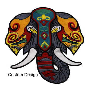 Bulk wholesale 3d custom embroidered embroidery patches sew iron on for clothing