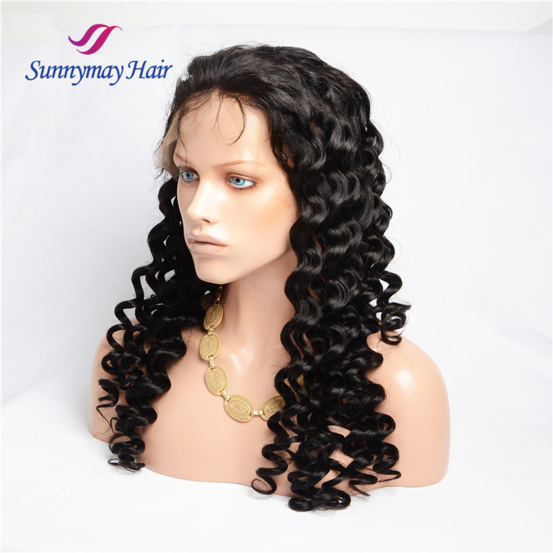Best Selling Virgin Raw Unprocessed Virgin Malaysian Hair 100% Hand-tied Loose Curly Lace Wigs