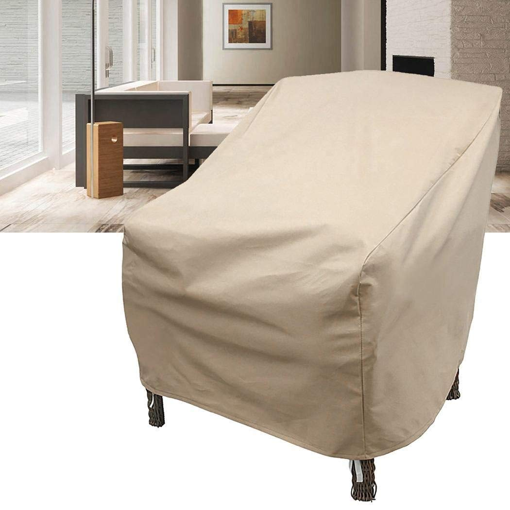 Dtemple High Back Patio Chair Furniture Storage Cover, Outdoor Furniture Storage Cover Waterproof Dust Cover Durable and Water Resistant, US Stock (TYPE1: 68 x 87 x 77cm/26.8 x 34.3 x 30.3inch)
