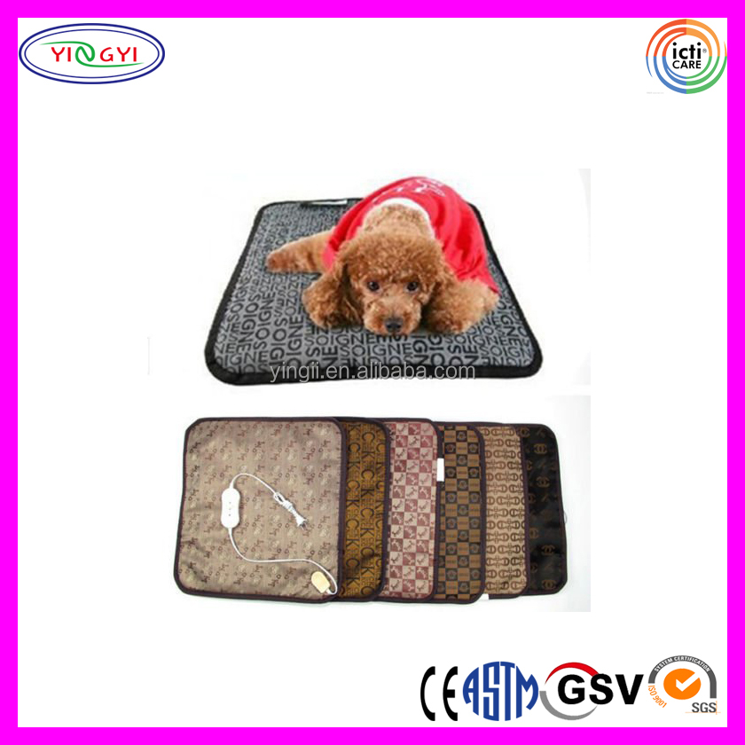C974 Pet Dog Electric Waterproof Heating Blanket Pad Mat Bed PU Leather Waterproof Electric Blanket