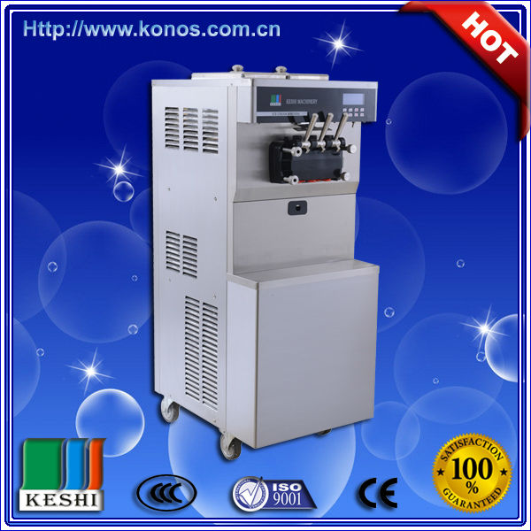 2014 Hot sale commercial soft ice cream machine with imported configurations and pre-cooling system/ice cream vending machine