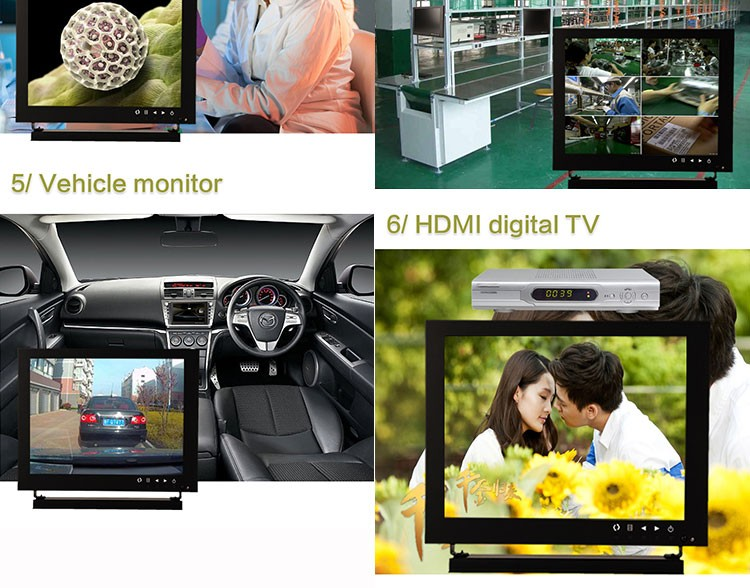 10 inch metal casing 1280*800 IPS screen industrial grade LCD CCTV monitor with VGA BNC