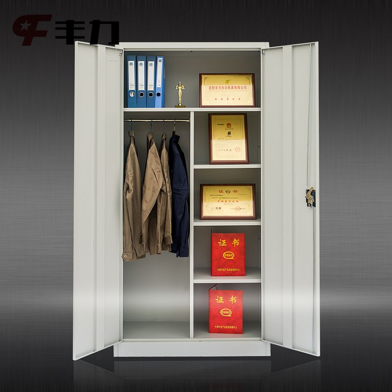 Metal Used Standard Size Color Wardrobe Cabinet Bedroom 2 Door
