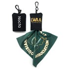 With protect Neoprene pocket logo printed microfiber lens cleaning cloth