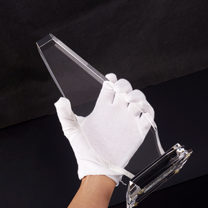 Wholesale Blank K9 Crystal Glass Bevel Trophy For Custom Business Gift Souvenirs Crystal Glass Award