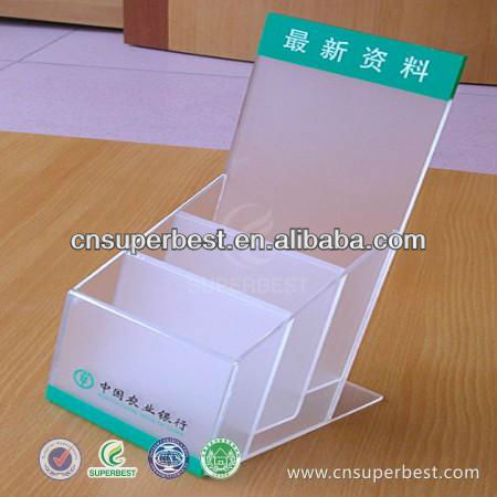 3 tiers counter step acrylic brochure holder