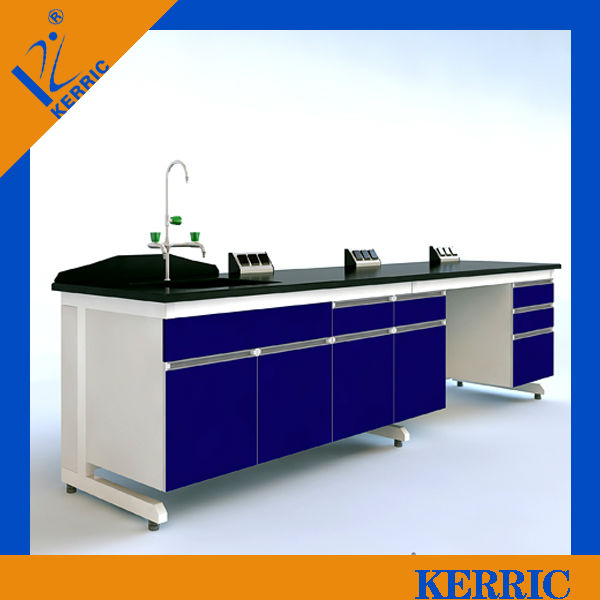 All steel laboratory wall work bench For agricultural products Testing center