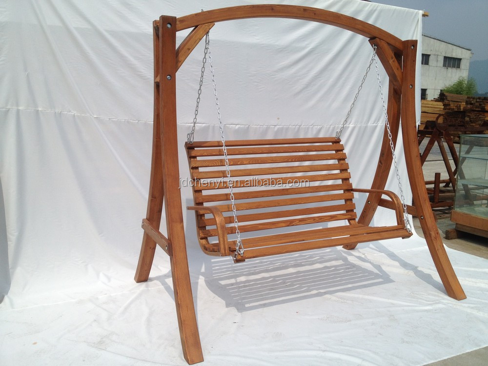 Porch Wood Swing Chair Porch Swing Bench Wooden Swing With Stand