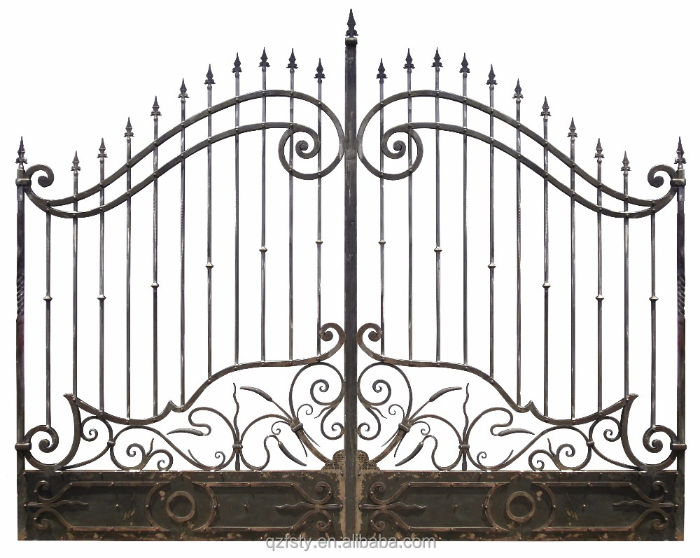 Swing main gate design from forsun wrought iron