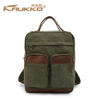 New Retro Canvas Shoulder Bag Wholesale British Fashion Casual Men and Women Leather Backpack