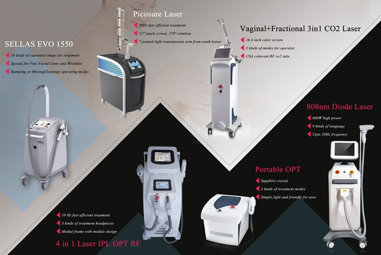 QL7 laser tattoo removal machine with 3 kinds of laser wavelength 1064nm 532nm 1320nm laser head
