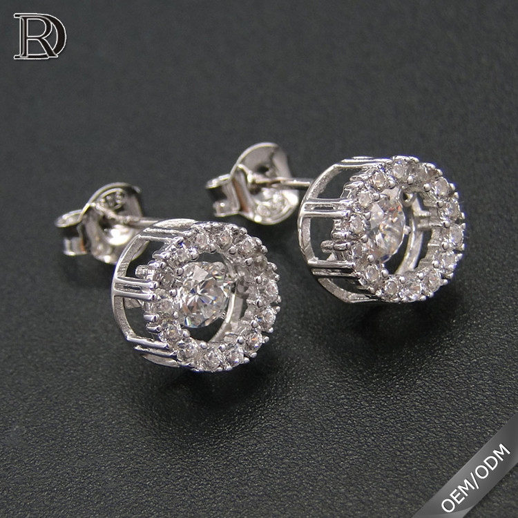 Many certified stud dancing diamond earrings