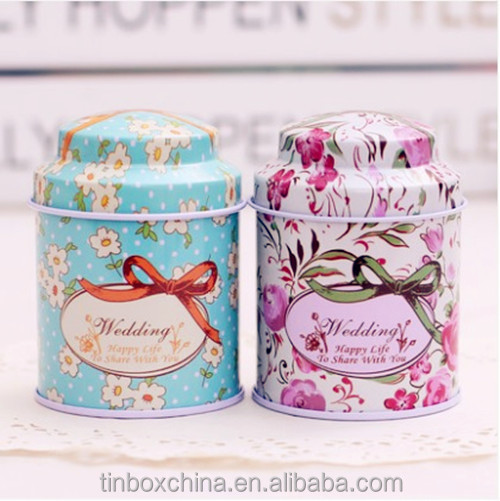 round wedding gift boxes tin metal material for candies