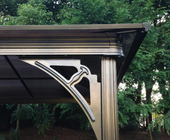 outdoor aluminium pavillon 3x3 m gro en garten terrasse. Black Bedroom Furniture Sets. Home Design Ideas