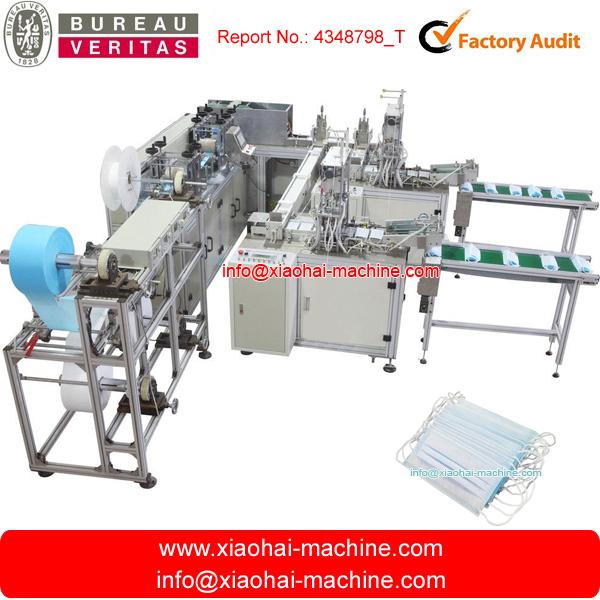 Has Video Full Automatic Nonwoven Face Mask Making Machine With Spot Welding Machine Inline Without Labor 80-90pcs per minute
