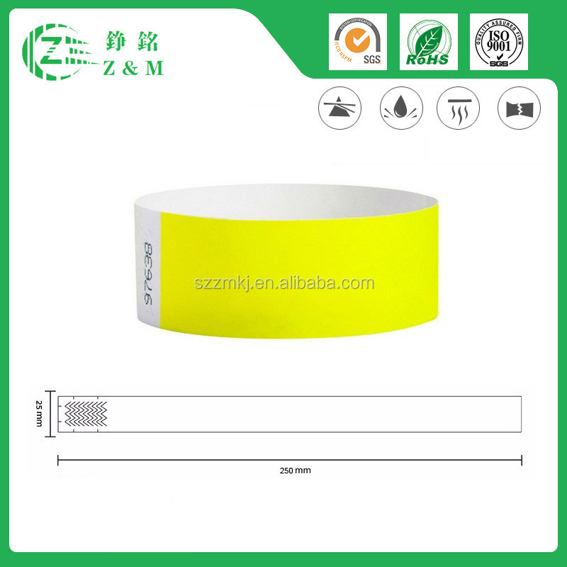 Novelty Gifts Cheap Tyvek Wristband
