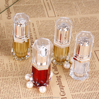 Hengsheng factory Hot selling beautiful hot stamping 10ml face care clear plastic cosmetic oil bottle with low price