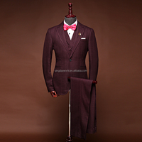 2018 New Design Picture 100% Wool Camel Stylish OEM MTM Service Custom Men Suit For Wedding Dress