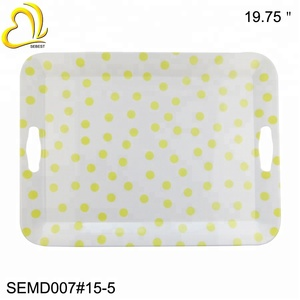 Color Spots Seed Tray Hotel Rolling Tray Agency buying Melamine Tray