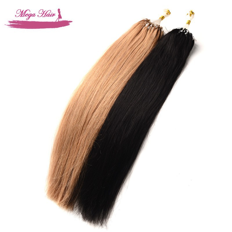 Buy Top Quality Micro Bead Human Hair Extensions Straight Brazilian