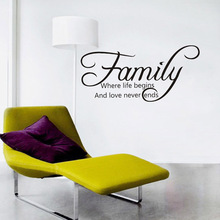 Removable family wall decal quotes