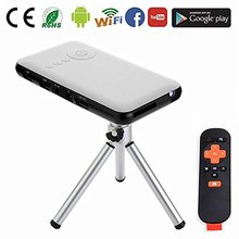 Smart Phone Mobile Projector Mini, Watch Phone DLP Mini Projector 1080p 16GB with Android System LTP-D05(M6)