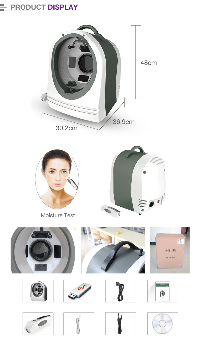SA2 face scanner analysis facial magic mirror skin analyzer
