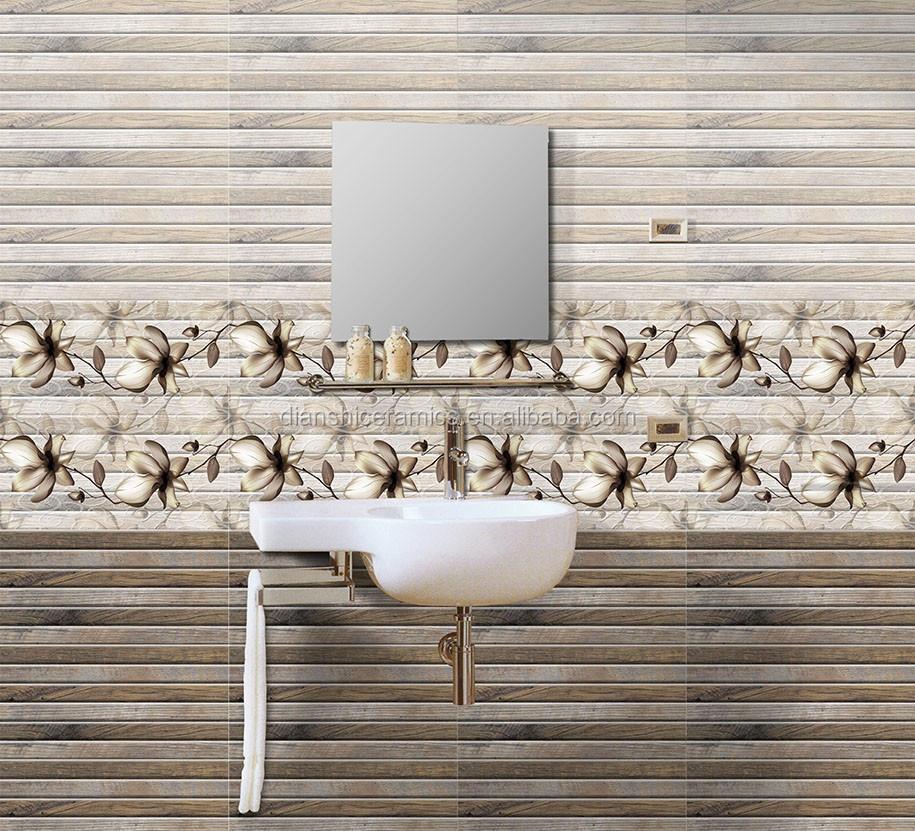 30x60cm wooden grain decorative wall tile bathroom tile design buy wooden grain tile for Decorative wall tiles for bathroom
