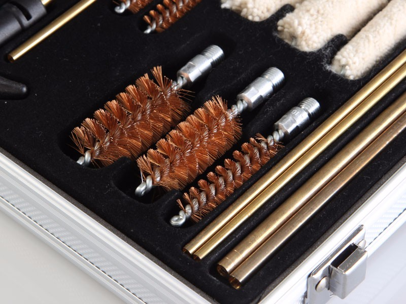 Gun Cleaning kit Brush Tools With Aluminum Box for guns rifles weapons cleaning accessories iron wire Brush cleaning tools