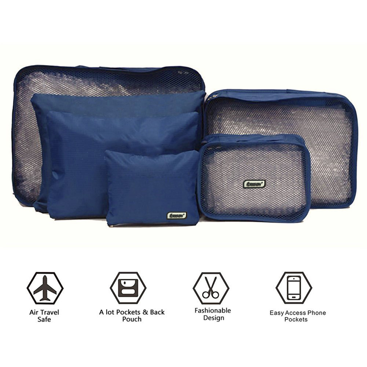 6PCS Travel Organizers Packing Cubes Luggage Storage Bags